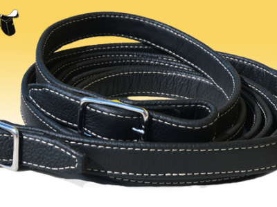 Non-slippery leather reins without stops