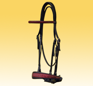 Dressage Bridle with croco leather
