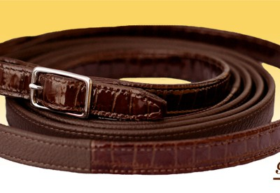 CROCO – leather reins