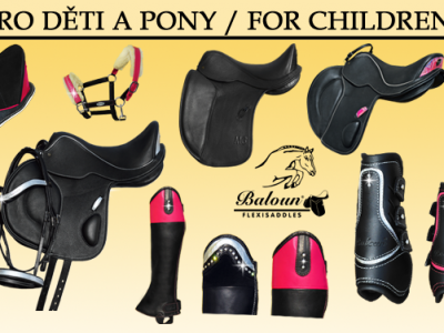 Collection of products for children and pony