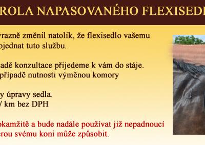Kontrola napasovaného flexisedla
