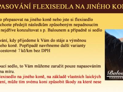 Přepasování flexisedla
